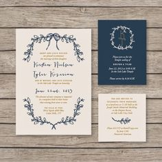 West end girl #invitation #floral #gold #navy #wedding #flowers