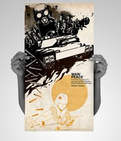 War-Peace by ~xanthousis #project #war #conceptual #poster #peace #social