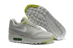 Mens Air Max 1 Hyperfuse Grey White Volt Shoes #shoes