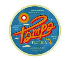 Tampa - The Everywhere Project #kidd #script #florida #been #everywhere #illustration #stampa #kendrick