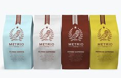 FFFFOUND! | Metrio Coffee - TheDieline.com: Package Design #packaging #package