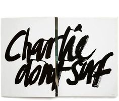 charlie dont surf #typography
