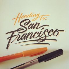 Type / Photo by matthewtapia xe2x80xa2 Instagram xe2x80x94 Designspiration #handwritten #typography