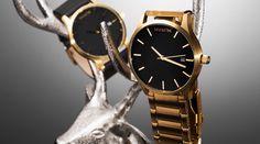 MVMT Black/Gold Watch #tech #flow #gadget #gift #ideas #cool