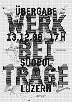 > Werkbeiträge 2008/2 #design #graphic #poster