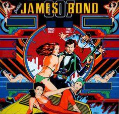 Illustrated 007 The Art of James Bond: James Bond Pinball Machine #machine #ball #bond #pin #james #illustration