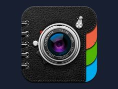 Dribbble - Lens.ly app icon by SoftFacade #icon #logo #ios #instagram