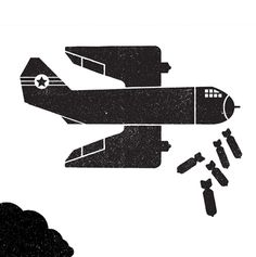Telegramme_econom #vector #war #illustration #plane #bomber