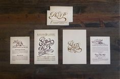 Gina & Bryan's wedding invites #wedding #sript #invitations #illustration #drawn #invites #type #hand