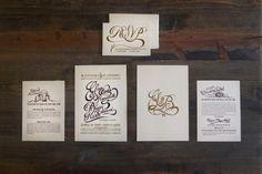 Gina & Bryan's wedding invites #wedding #sript #invitations #illustration #drawn #invites #type #hand