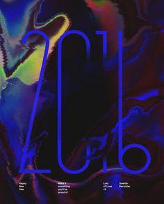 H a p p y N e w Y e a r #2016 #poster #artwork #newyear http://quentinderonzier.com/2016