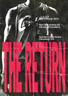 The Return - Abbas Mushtaq #design #type #lebron #james #90s #vintage #poster #sport #editorial #basketball