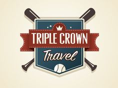 Triplecrowntravel #crown #badge #vector #triple #design #baseball #logo