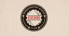 Riley Cran | Euchre Club #typofraphy #design #graphic #vintage
