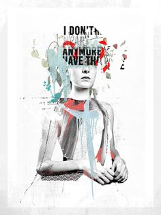 collage, text, type, abstract, bold