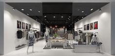 Interior visualization of the multi-brand store - dizonaurai #interior #store #viz #render