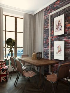 London Sky - studio apartment #interior #london #design #studio #apartment