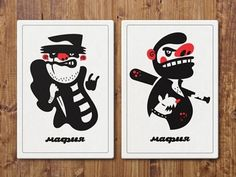 Dribbble - Mafia game. Characters for playing cards. by Dima Je #print #cards #character