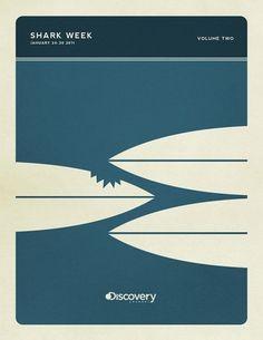Minimal Poster Design - Shark Week on the Behance Network