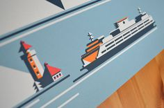 ferry rick murphy 2 #travel #poster