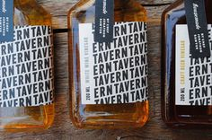 pattern, packaging, typography // cwisnieski_tavernvinegar_01 #packaging #pattern #typography