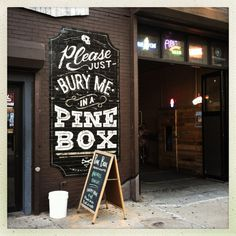 Typographic mural outside of Pine Box Rock Shop | Flickr - Photo Sharing! #signpainting