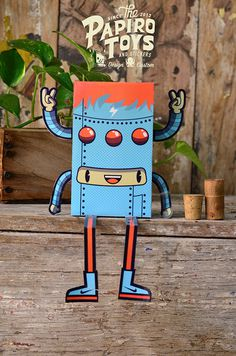 PAPER TOYS SERIE I on Behance #vector #robot #illustration #paper #toy