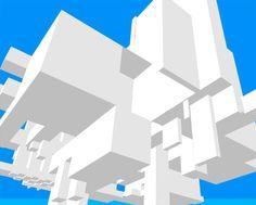 Geometric Clouds Gardner Keaton Structured Art #design #illustration #architecture #poster #art #graphics