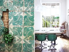 green dining chairs #interior #design #decor #deco #decoration