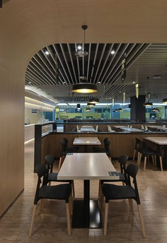 Innovative Office Cafeteria / Sanshangshan Decoration Design