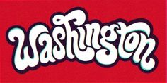 Typeverything.com - Washington by Carolyn Sewell. - Typeverything #washington #red #typography