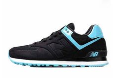 Mens new balance MS574BP Sonic Black Treasure Blue Shoes