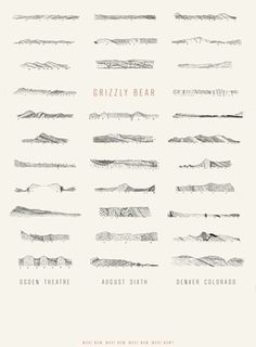 Grizzly Bear Poster Design by The Frontispiece