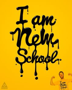 New school! #school #typography #yellow #oil #new