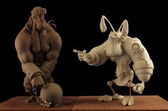 Santos and Mister Bone by The-Small on deviantART #sculpture