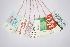 design work life » cataloging inspiration daily #christmas #tags