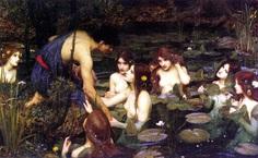hylas and the nymphs // pre-raphealites - john william waterhouse
