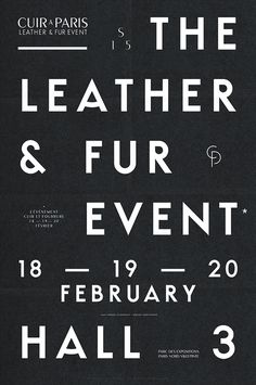 The Leather & Fur Event #graphic #design #poster