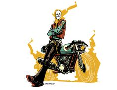 ghostrider6 #ghost #line #andy #macdonald #illustration #art #rider