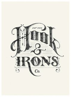 Dribbble - Hook&Irons_POSITIVE.jpg by Tom Lane #logo #hookitons #typography