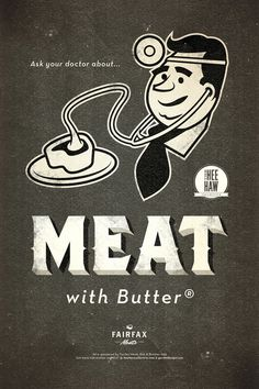 MEAT POSTER #butter #doctor #retro #meat #teak #poster