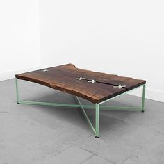 Stitched Slab Coffee Table by Uhuru Split nearly... - FURFIN