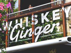 Whiskey Ginger Signage #logo #lettering