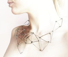 FUTURISTIKA geometric stainless steel necklace #metal #jewelry #geometry #necklace