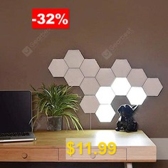 Touch #Control #Wall #Light #Hexagon #Honeycomb #Induction #Lamp #- #WHITE