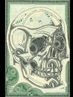 AHONETWO #skull #money #ahonetwo
