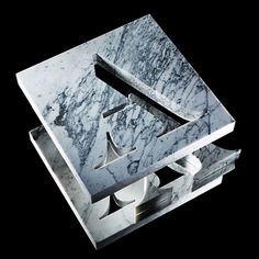Carl Kleiner's beautiful cut marble cover #diecut #marble #typography