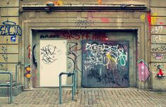 Google Image Result for http://www.findingberlin.com/wp content/uploads/berlin_berghain_club_klein_vntg.jpg #panorama #graffiti #berghain #doors #bar