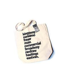 Welcome to Eastvan - enjoy your stay. #shopping #design #graphic #eastvan #bag #organic #typography