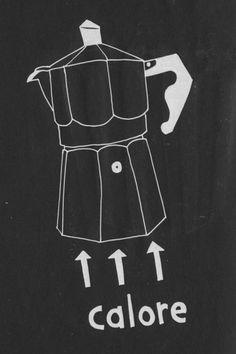 Moka #illustration #drawing #italy #moka #coffee #kitchen
